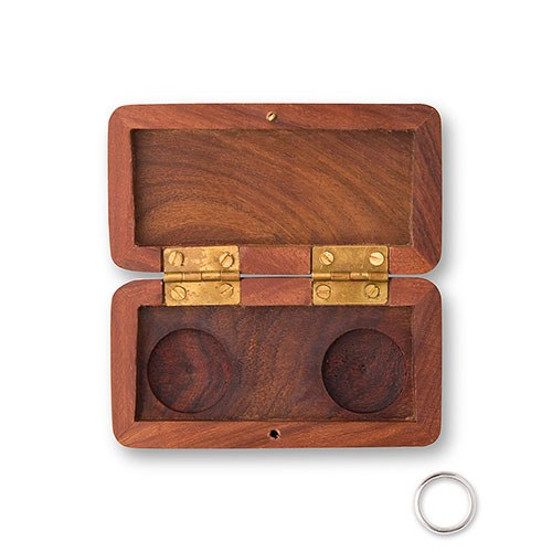 Delicieux Pocket Size Wooden Wedding Ring Box