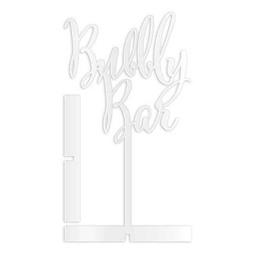Bubbly Bar Acrylic Sign   White