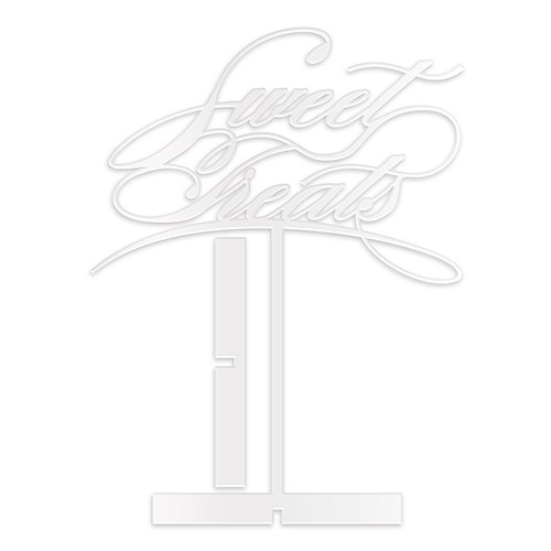 Sweet Treats Acrylic Sign   White