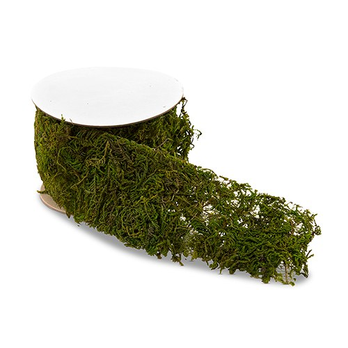 Beau Roll Of Faux Moss Ribbon