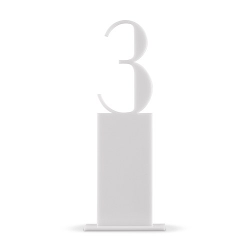 White Acrylic Table Number Pedestal Style