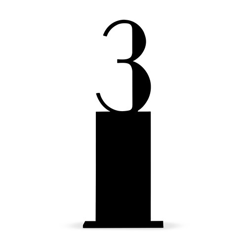 Black Acrylic Table Number Pedestal Style