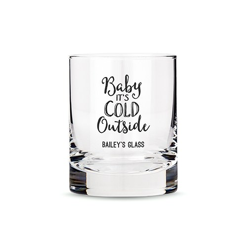 Classic Rocks Glass - Baby It's Cold Outside Printing