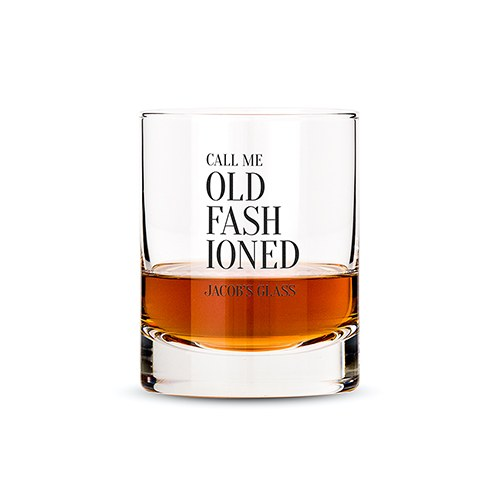 Personalized Scotch Glasses With Call Me Old Fashioned Print