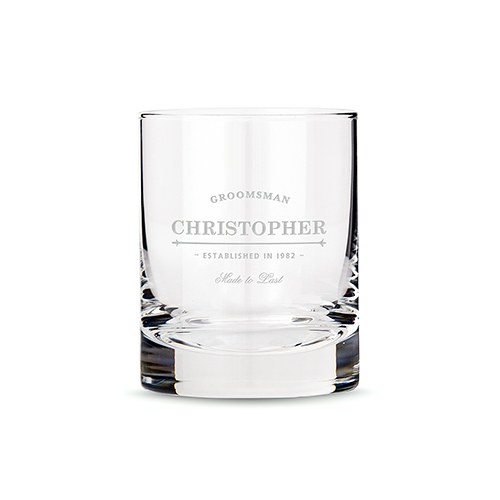 groomsmen gift whiskey glasses the knot shop