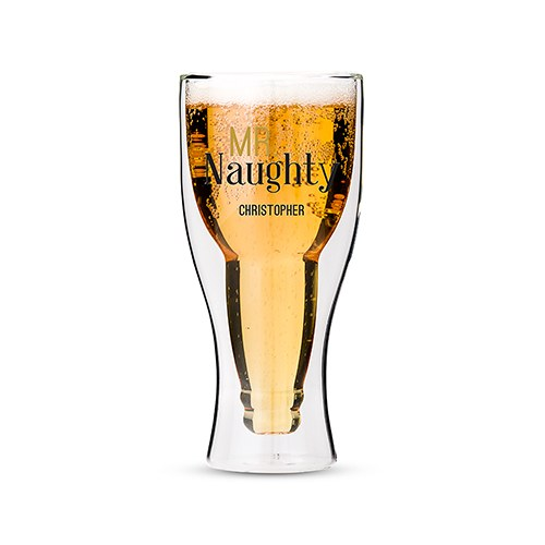 Double Walled Beer Glass - Mr. Naughty Printing