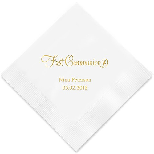 Personalized Wedding Accessory Printed Napkins