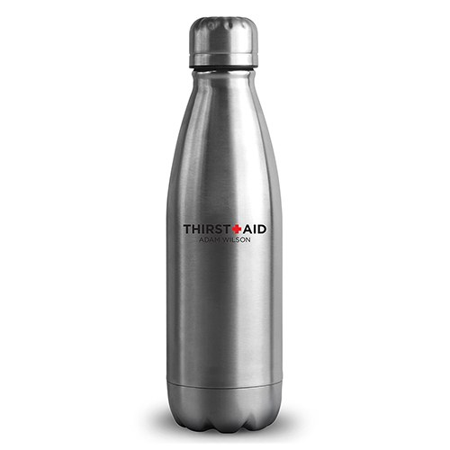 Personalized Silver Metal Cola Shaped Water Bottle – Thirst Aid Print