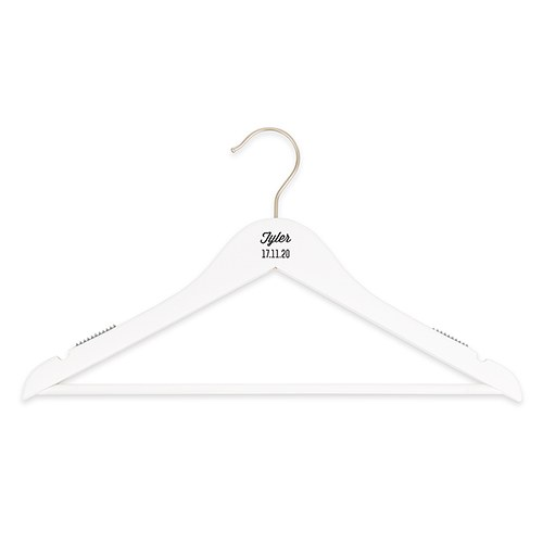 Personalized Wooden Wedding Clothes Hangers - Script Print