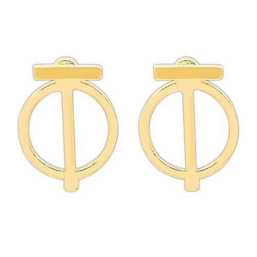 Gold Earring Jackets – Simple Geometric Design