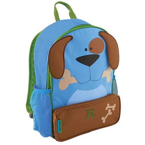 Personalized Kids Backpack - Blue Puppy Dog