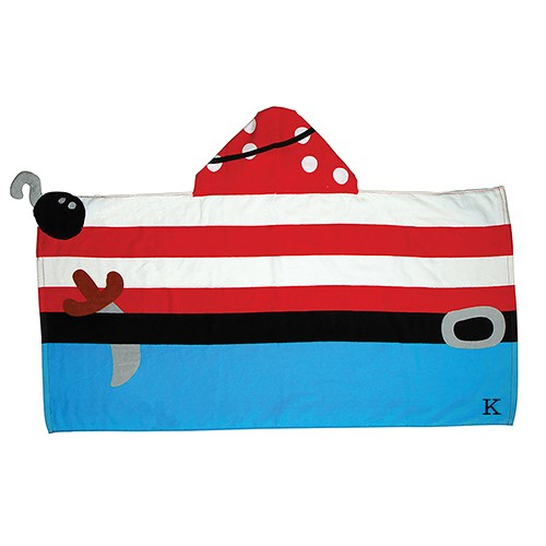 Personalized Hooded Bath Towel for Kids- Pirate
