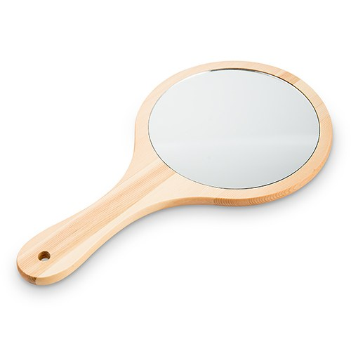 Wooden Hand Mirror - #flawless