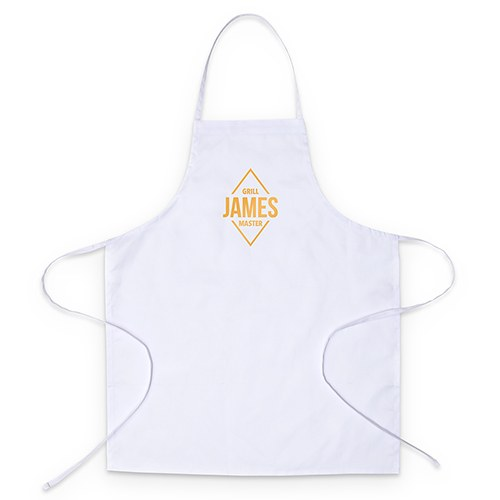 Personalized Kitchen Apron - Diamond Emblem