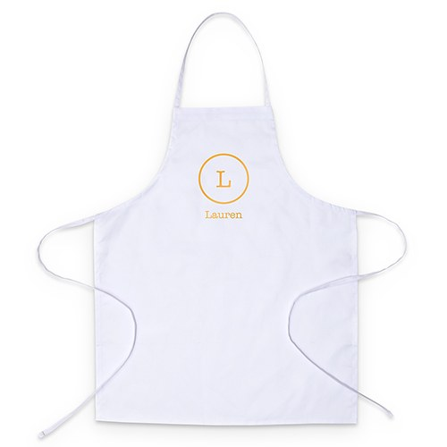 Adult's Personalized Chef Apron - Circle Monogram