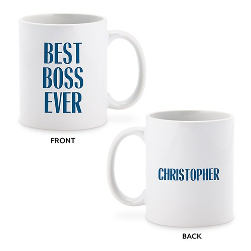 Personalized Coffee Mug - Best Boss Ever Male