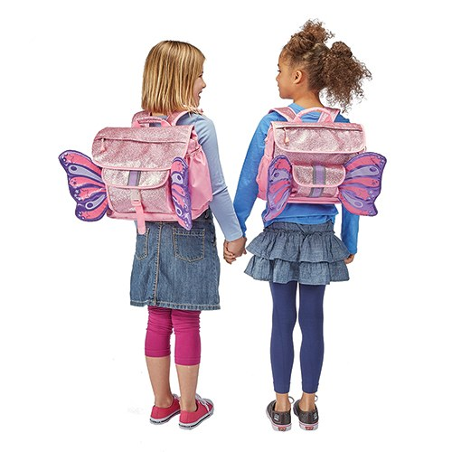 Small Personalized Kids Glitter Backpack - Pink