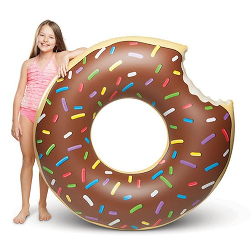 Giant Inflatable Pool Float Toy - Chocolate Donut