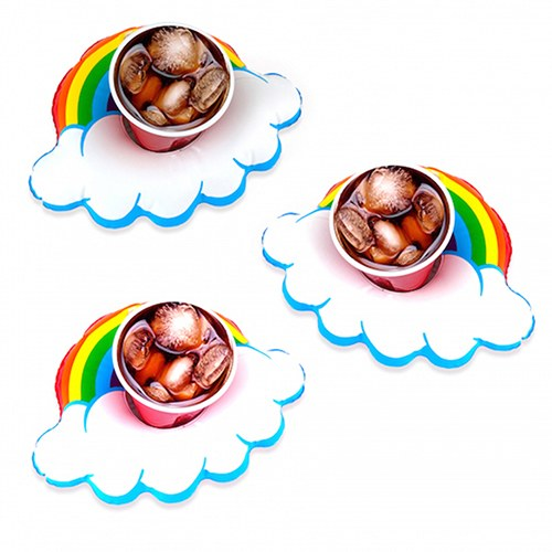 Rainbow Drink Float - Drink Holder - Set of 3