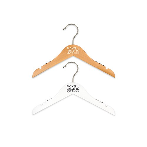 Personalized Flower Girl Hanger - Modern Rose