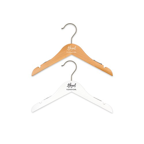 Personalized Flower Girl Hanger - Scripted Print