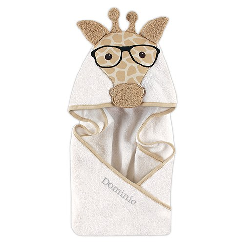 Animal Face Hooded Towel - Giraffe