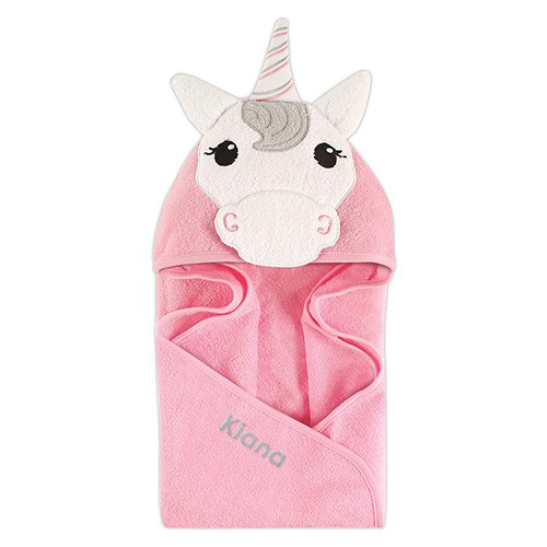 Animal Face Hooded Towel - Unicorn