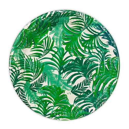 Tropical Leaves Round Paper Plates  sc 1 st  The Knot Shop & Tropical Leaves Round Paper Plates - The Knot Shop