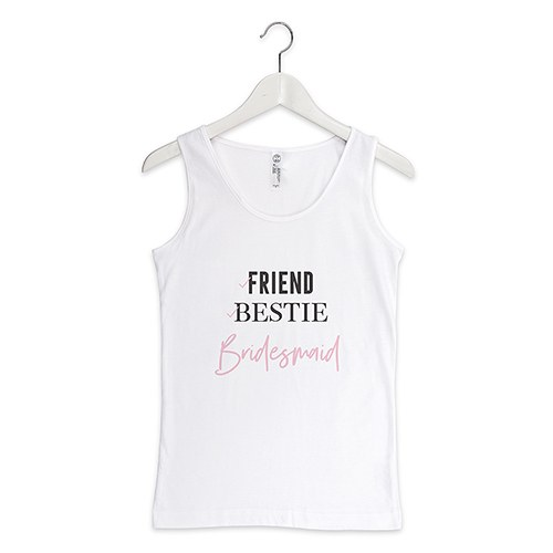 Personalized Bridal Party Wedding Tank Tops - Bridesmaid