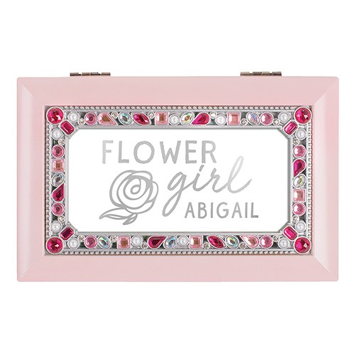 Small Jeweled Music Box - Flower Girl Foiled Print