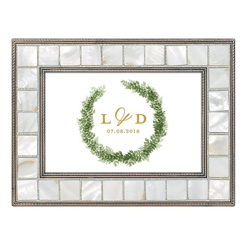 Large Personalized Luxury Pearl Music Box – Love Wreath Print