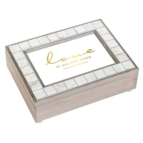 Luxury Pearl Music Box - Love Is All You Need Foiled Print