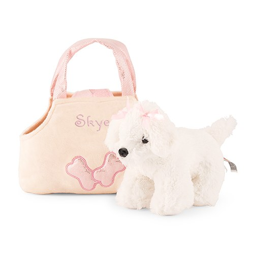 Plush Puppy Purse - White Puppy