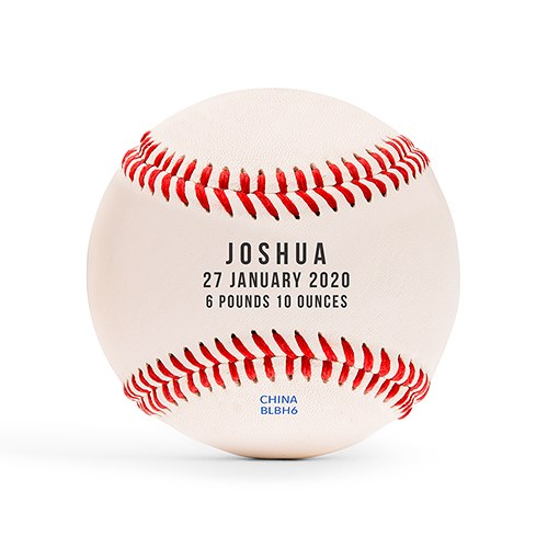 Personalized Printed Baseball Keepsake- Baby Birth Stats