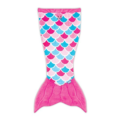 Kids Mermaid Tail Blanket - Magenta Pink