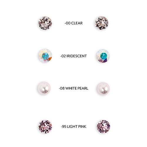 Swarovski Crystal or Pearl Stud Earrings - Mrs.