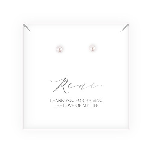 Swarovski Crystal or Pearl Stud Earrings - Mother-In-Law Thank You