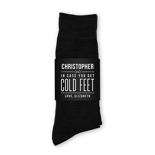 513617ecda650 Personalized Men s Socks Wedding Gift - Cold Feet - The Knot Shop