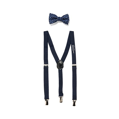 6fe369cb6 toddler children baby bow tie suspenders wedding outfit attire navy blue