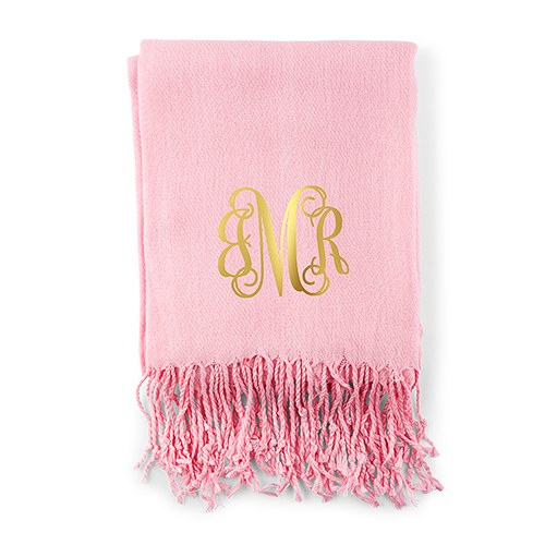 Women's Personalized Monogram Pashmina Scarf