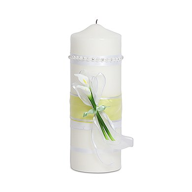 Bridal Beauty Calla Lily Candles  Lighting Taper Candles