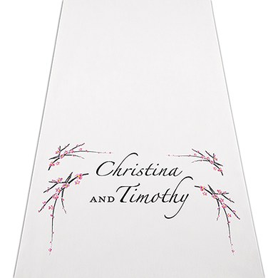 Image of Cherry Blossom Personalised Aisle Runner
