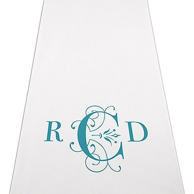 Image of Classic Deco Monogram Personalised Aisle Runner