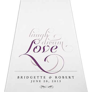 Image of Expressions Personalised Aisle Runner