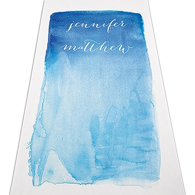 Image of Aqueous Personalised Aisle Runner