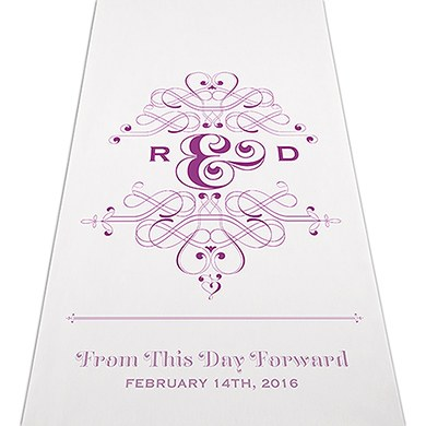 Image of Fanciful Monogram Personalised Aisle Runner