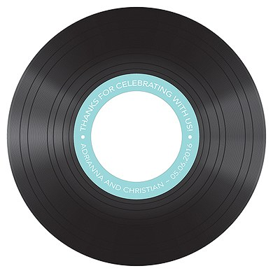 Classic Vinyl Diecut Cd Label - The Knot Shop