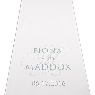 Image of Contemporary Vintage Personalised Aisle Runner