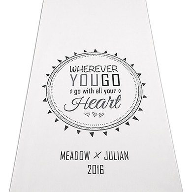 Free Spirit Personalised Aisle Runner - White With Hearts