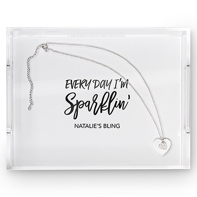 Rectangular Acrylic Tray  Every Day Im Sparklin Printing